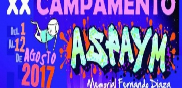 Cartel del Campamento Aspaym 2017