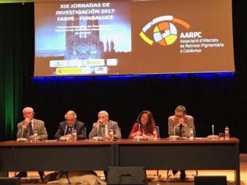 Foto de la mesa de inauguración de las XIX Jornadas de Investigación Fundaluce 2017