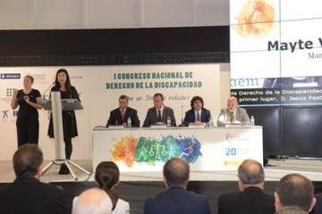 Foto de la mesa inaugural del I Congreso Nacional de Derecho de la Discapacidad