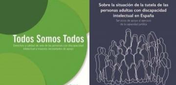 Portadas de las publicaciones del Real Patronato sobre Discapacidad sobre discapacidad intelectual