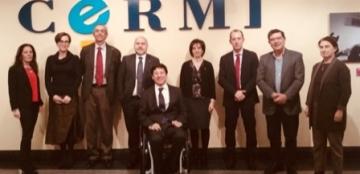 Foto de familia de la reunión de la Comisión de Seguimiento del Observatorio Estatal de la Discapacidad