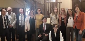 Foto de familia de la reunión del Consejo Rector de CNLSE