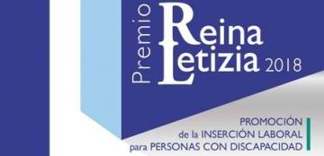 Cartel del Premio Reina Letizia 2018 de Promoción de la inserción laboral