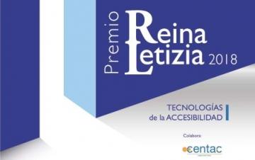 Cartel del Premio Reina Letizia 2018 de Tecnologías de la Accesibilidad