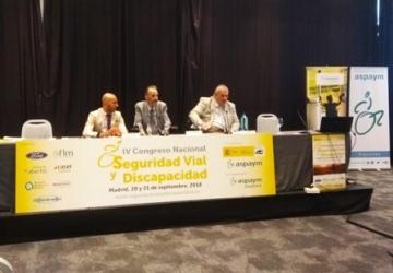 Foto del acto de clausura del IV Congreso Nacional de Seguridad Vial y Discapacidad