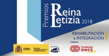 Imagen del cartel de los Premios Reina Letizia 2018 de Rehabilitación e Integración