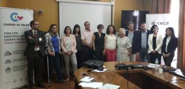 Foto de familia de la reunión de Cadena de Valor