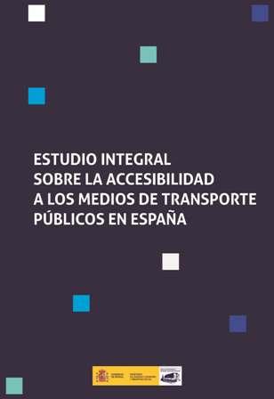 Portada del Estudio de accesibilidad a los transportes