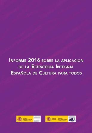Portada del Informe 2016 de cultura para todos