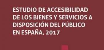 Portada del estudio sobre accesibilidad de bienes y servicios