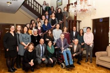 Foto de familia de la presentación de la convocatoria de ayudas