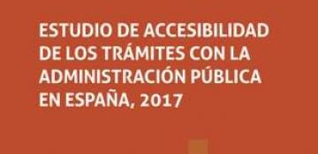Portada del estudio sobre accesibilidad en los trámites
