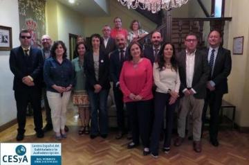 Foto de familia de la reunión del Consejo Rector del CESyA