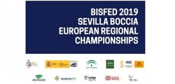Cartel del Campeonato de Europa de Boccia