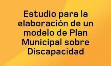 Portada del Estudio para la elaboración de un modelo de Plan Municipal sobre Discapacidad