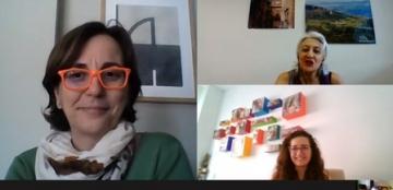 Captura de pantalla de la reunión online