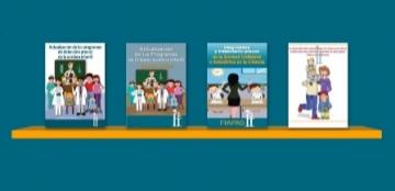 Captura de pantalla de la sección de folletos de la biblioteca virtual FIAPAS