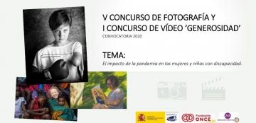 Imagen de las tres fotografías ganadoras del último concurso Generosidad, con título y tema de la actual convocatoria
