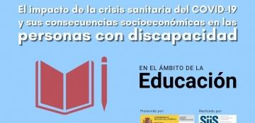 Cartel de la investigación sobre COVID-19 y discapacidad en el ámbito de la educación