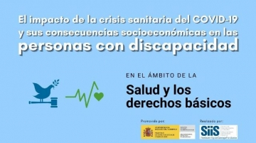 Banner del estudio sobre el impacto del COVID-19 en las personas con discapacidad en el ámbito de la salud y los derechos básicos