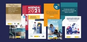 Collage de portadas de las publicaciones del programa editorial del Real Patronato sobre Discapacidad 2020