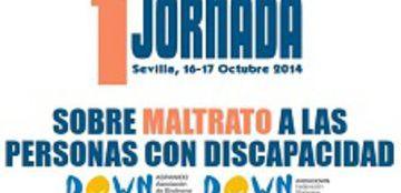 Cartel de la I Jornada sobre Maltrato a las Personas con Discapacidad