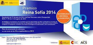Cartel de los Premios Reina Sofía 2014 de accesibilidad universal de municipios