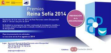 Cartel de los Premios Reina Sofía 2014 de prevención de la discapacidad