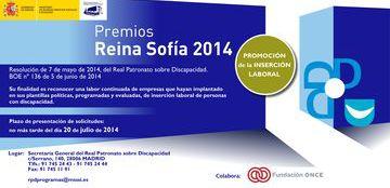 Cartel del Premio Reina Sofía 2014 de Promoción de la Inserción Laboral